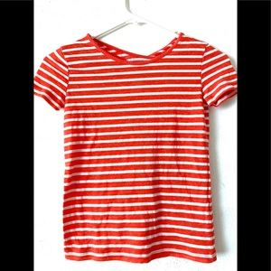 Pockie K Red & White Striped Kid's Girl's T-Shirt